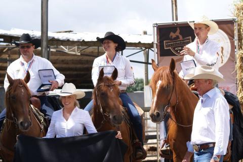 Siegerehrung Deutsches Team bei den European Cow Classes 2016